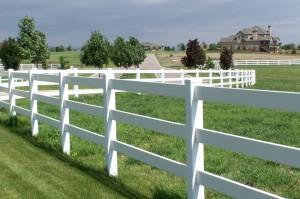 Vinyl Fencing Styles - Ranch Rail Fence