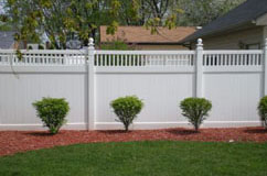 Accent privacy fence