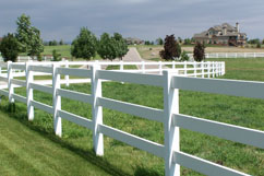 Vinyl Ranch Rail Fence