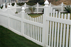 How to Buy the Right White Vinyl Fence - Scalloped picket fence